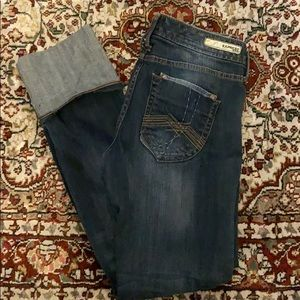 Express Jeans size 8 Cuffed at the ankles